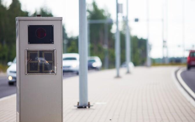 Speed camera in Tallinn.