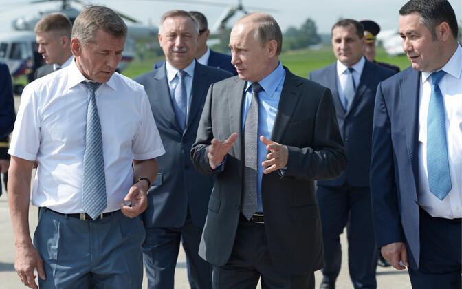 President Vladimir Putin külastas neljapäeval Dmitrova Gora põllumajandusettevõtet Tveri oblastis.
