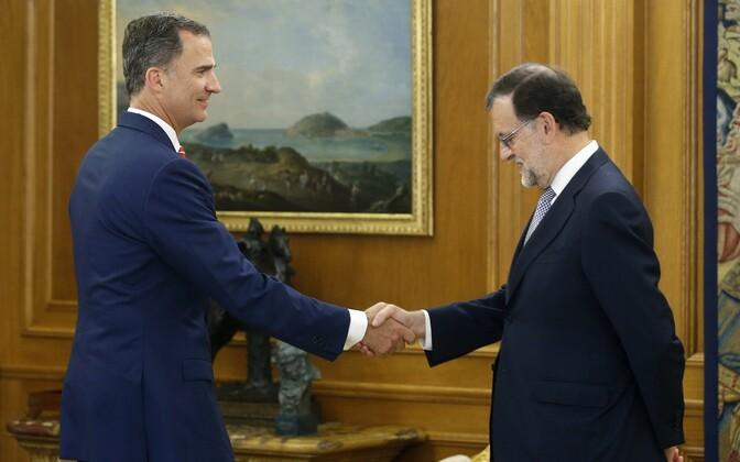 Hispaania kuningas Felipe VI ja senine peaminister Mariano Rajoy.
