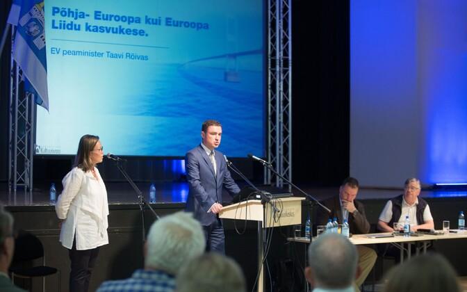 Peaminister Taavi Rõivas Saaremaal.