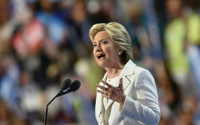 Hillary Clinton peab presidendikandidaadi kõnet USA demokraatide kongressil Philadelphias.