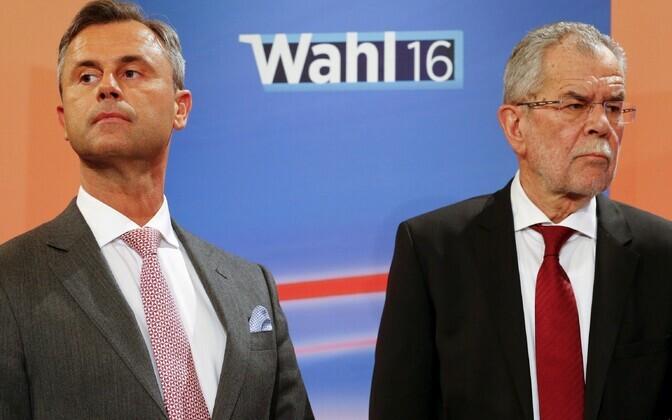 Norbert Hofer (vasakul) ja Alexander Van der Bellen.