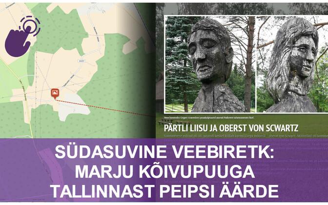 Eestis on peidus palju looduslikke ja inimtekkelisi unustatud paiku, mille leiab üles vaid hea reisijuhi saatel. Interaktiivse loo vaatamiseks tuleb klõpsata alloleval pildil.