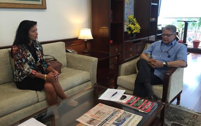 Undersecretary Annely Kolk in India last summer. August 2016.