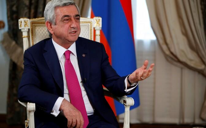 Armeenia president Serž Sargsjan.