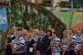 Эстонская делегация на церемонии поднятия флага в Олимпийской деревне в Рио-де-Жанейро.