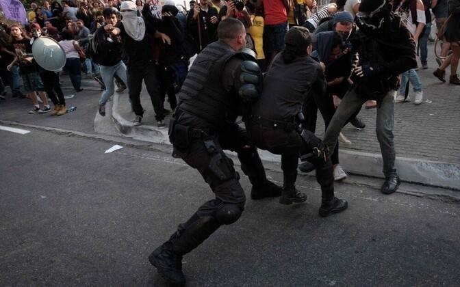 Акция протеста в Рио.