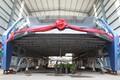 Buss Hebei provintsis üleeile pärast testsõitu.