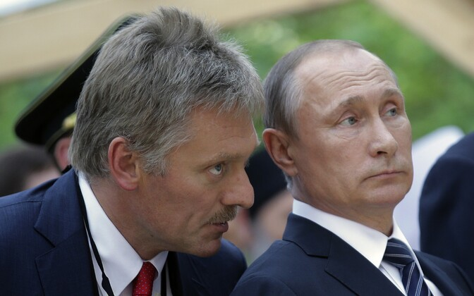 Dmitri Peskov ja Vladimir Putin.