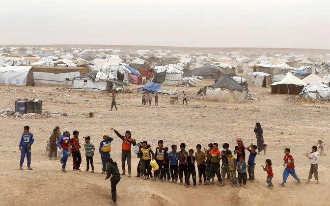 Süüria põgenikud Hadalatis.