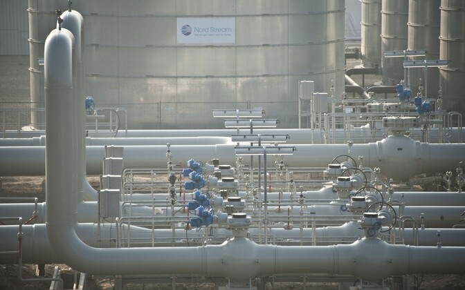Nord Streami torud Lubminis Saksamaal.