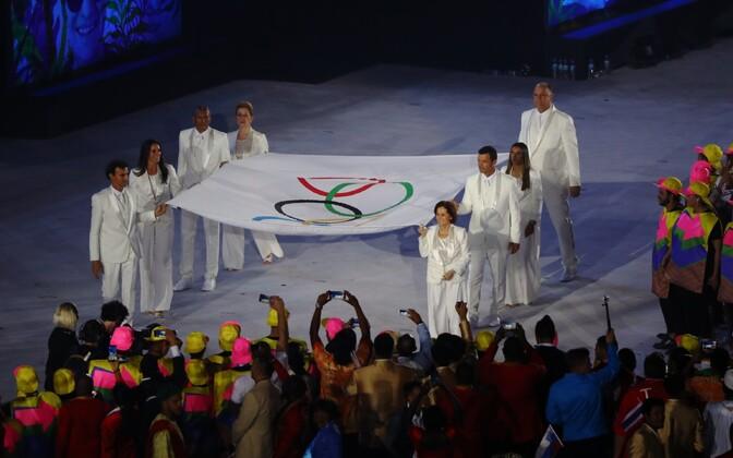 Rio de Janeiro olümpiamängude avatseremoonia.