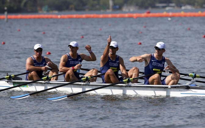 Estonian quadruple sculls team Tõnu Endrekson, Andrei Jämsä, Kaspar Taimsoo and Allar Raja came in first place in their heat with a time of 5:51.71.