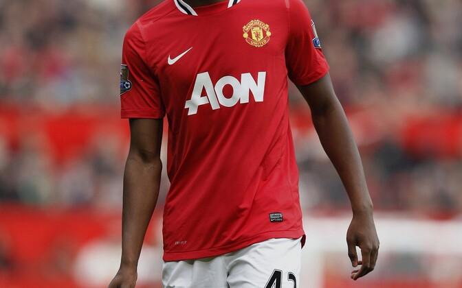 Paul Pogba 2012. aastal Manchester Unitedi eest mängimas