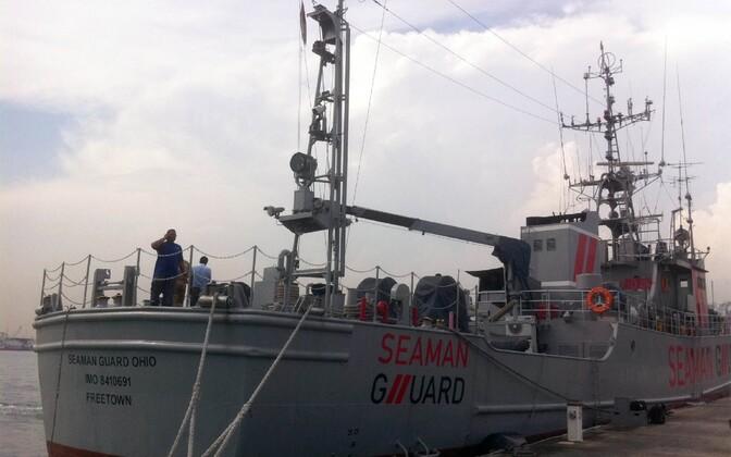 Laevakaitsjate laev Seaman Guard Ohio 2013. aasta oktoobris Tuticorini sadamas.