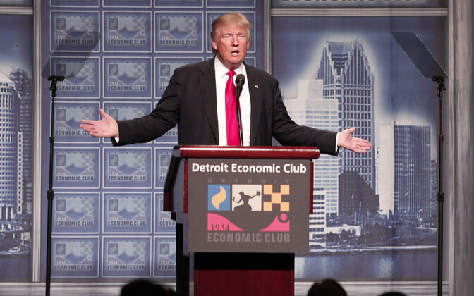 Donald Trump Detroidis oma majanduskava tutvustamas.