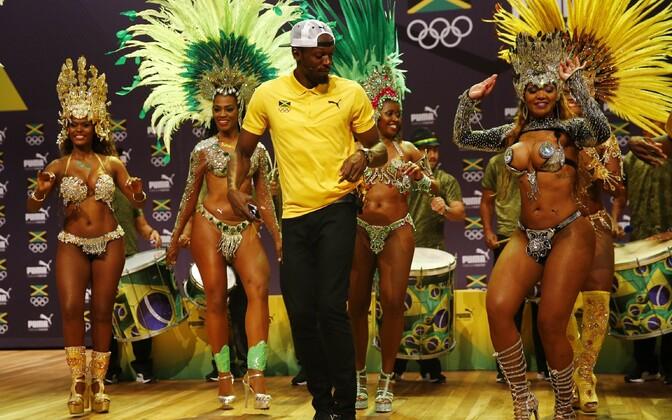 Usain Bolt pressikonverentsil Rio de Janeiros