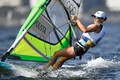 Ingrid Puusta competing in the women's RS:X-class windsurfing competition.