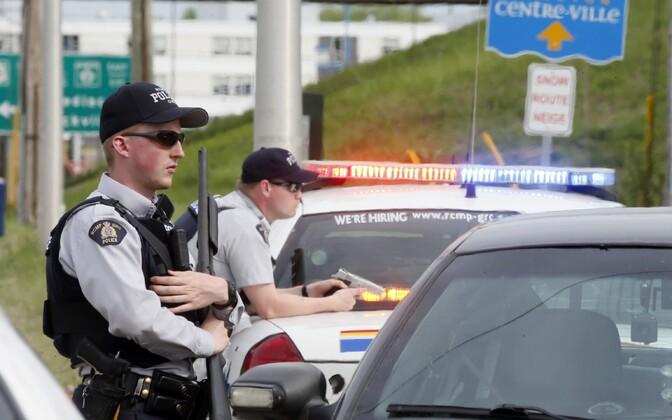 Politseinikud Kanadas. Illustreeriv foto.