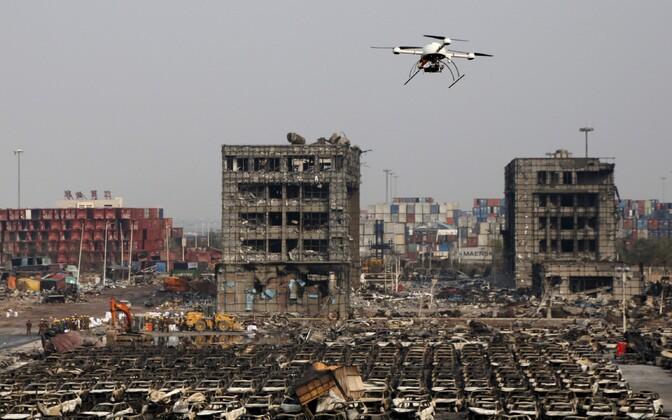 Tianjini keemiatehas pärast mullust plahvatust.