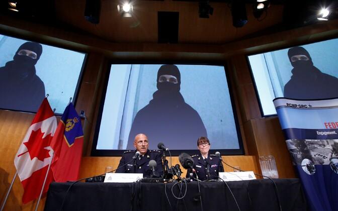 Kanada politsei pressikonverents.