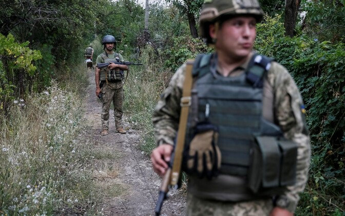 Ukraina sõdurid Donbassis Avdijivka lähistel.