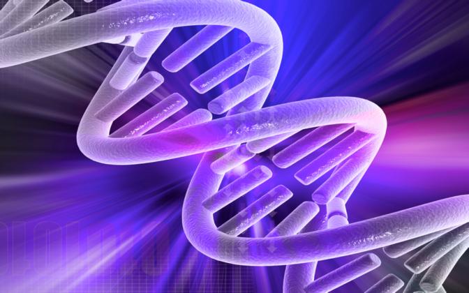 DNA molekul.