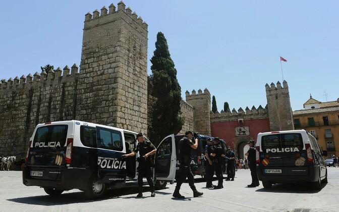 Politseinikud Hispaanias. Illustreeriv foto.