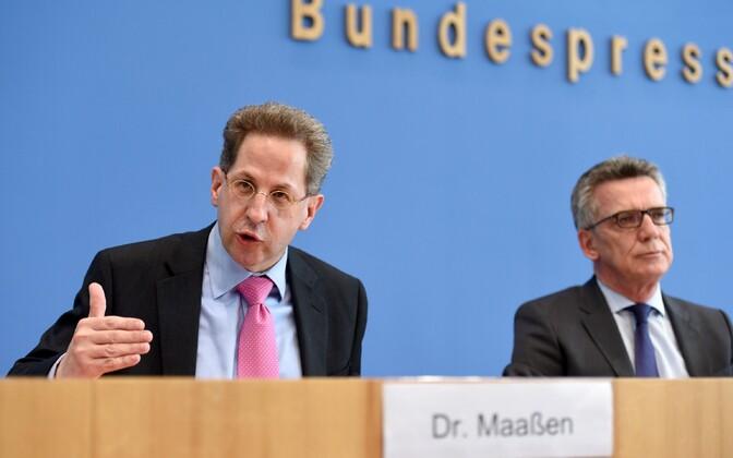 BfV juht Hans-Georg Maassen (vasakul) ja Saksa siseminister Thomas de Maizière.
