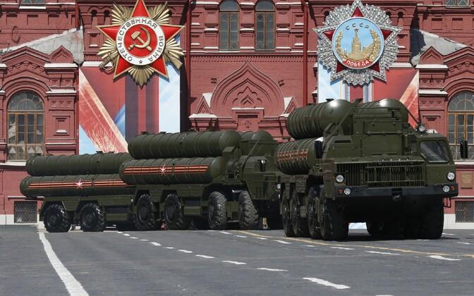 Õhutõrjesüsteemid S-400 paraadil Moskvas.