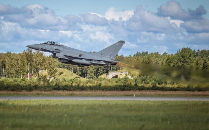 F-15C Eagles from the 493d Fighter Squadron of the USAF, nicknamed the