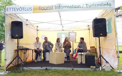 Arutelu piiriülese alkoholikaubanduse üle arvamusfestivalil.
