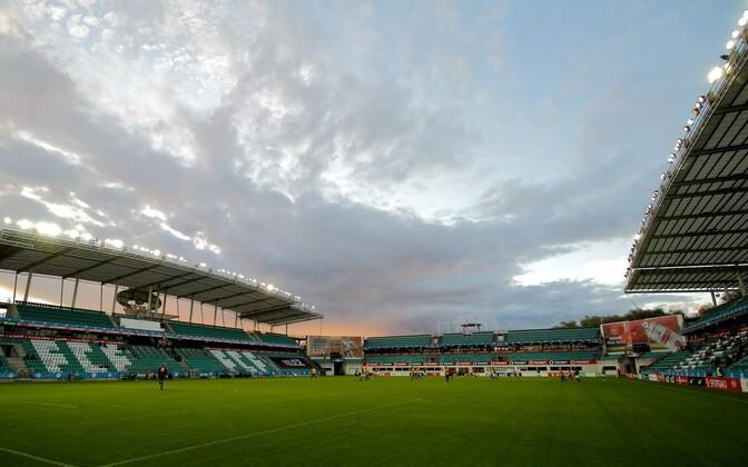 Tallinn's Lilleküla Stadium, also known as the A. le Coq Arena.