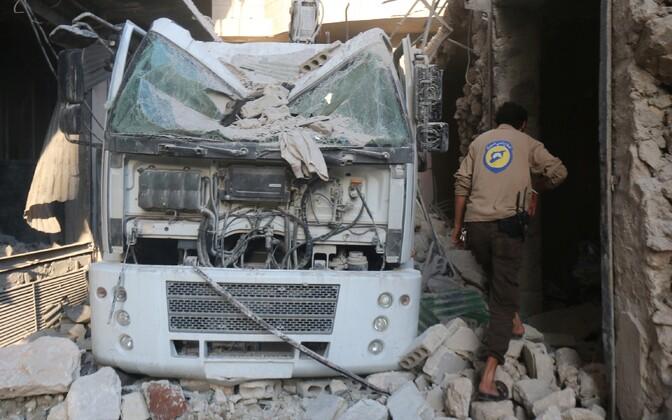 Aleppo pärast õhurünnakut.