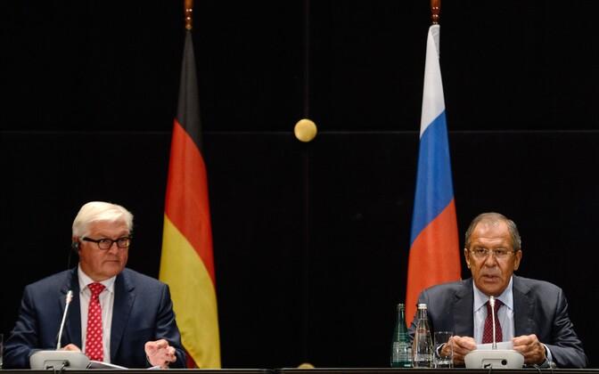 Frank-Walter Steinmeier ja Sergei Lavrov Jekaterinburgis.