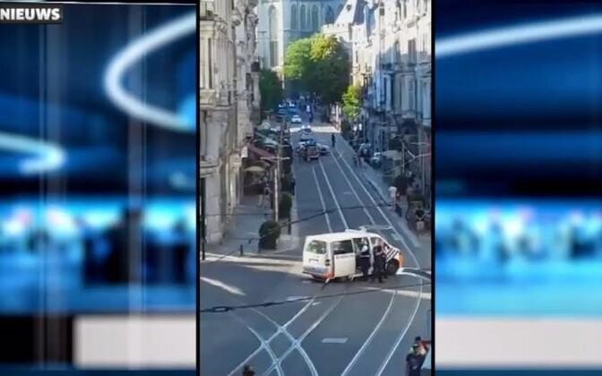 Sündmuskoht Genti kesklinnas.