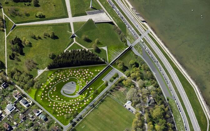 Проект мемориала жертвам коммунизма в Таллинне - вид сверху.