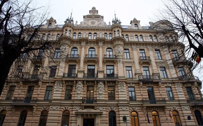 Läti korruptsioonivastase võitluse büroo (KNAB) hoone Riias.