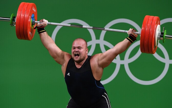 Estonian weightlifter Mart Seim.