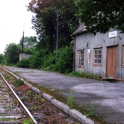For sale: The railway station in Turba.