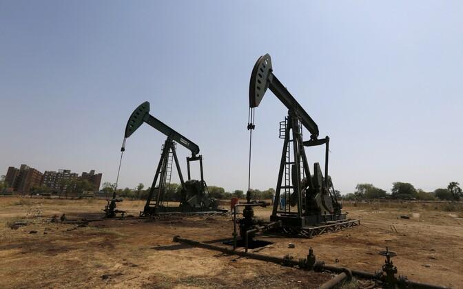 Naftapuurtornid Indias Ahmedabadis.