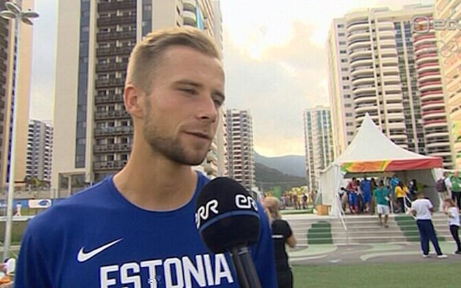 Estonian hurdle jumper Rasmus Mägi broke the Estonian record in the 400m hurdle finals in Rio.