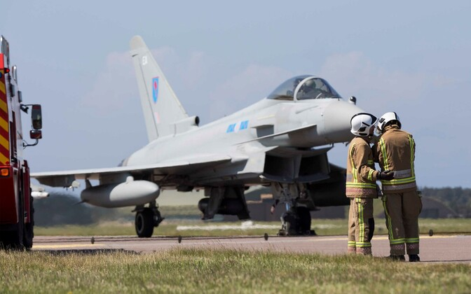 Eurofighter Typhoon of the Royal Air Force.