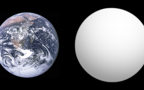 Eksoplaneet GJ 1132 võrdluses Maaga.