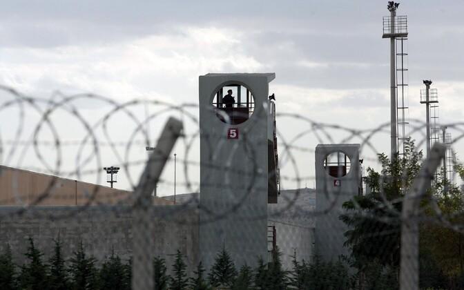 Ankara lähistel asuva Sincani vangla vahitornid.