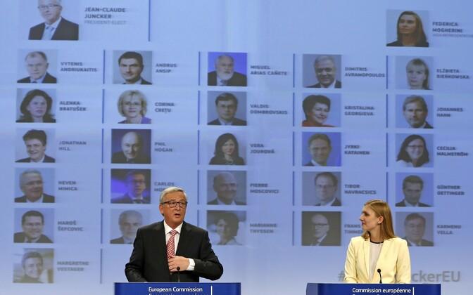 Euroopa Komisjoni president Jean-Claude Juncker ja Natasha Bertaud.