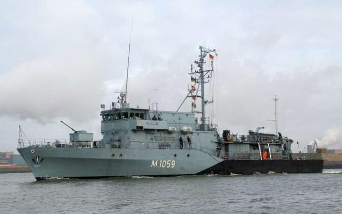 Saksa sõjalaev FGS Weilheim.