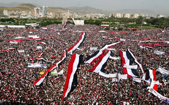 Meeleavaldus Jeemeni pealinnas Sanaas.