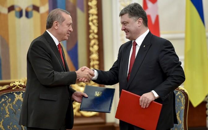 Türgi president Recep Tayyip Erdoğan oma Ukraina kolleegiga.