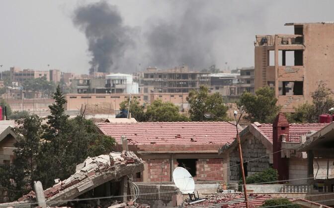 Suits Hasaka linna kohal 21. augustil.